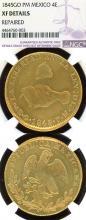 1845 GO PM 4 Escudo collectable mexican coins