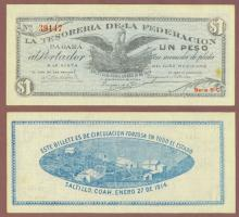 1914 1 Peso Mexiacan Revolution paper money