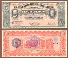 1915 5 Peso Mexican Revolution paper money