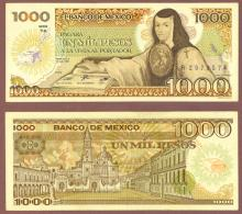 1985 1000 Pesos Mexico