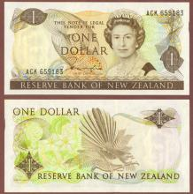 1981-92 1 Dollar New Zealand paper money