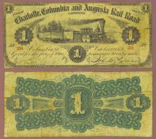 South Carolina 1873 - One Fare Rail Road