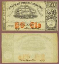 North Carolina 1864 - 50 Cr. #149B1Cents Civil War Confederate currency