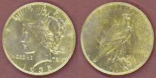 1935-S $ US Peace Silver Dollar