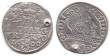 1600 3 Groschen Polish silver 3 groshen