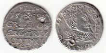 1595 3 Groschen Polish silver 3 groschen