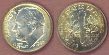 1949 10c US Roosevelt silver dime