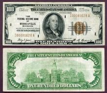 1929 $100 FR-1890-I Minneapolis