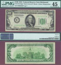 1934 $100 FR-2152-E STAR NOTE PMG Extremely Fine 45