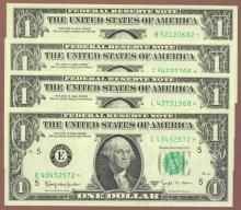 1963B $1 Granahan-Barr *STAR* small federal reserve note