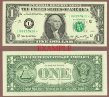 2006 - $1 *STAR* US small size federal reserve note