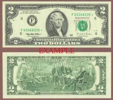 1995 $2 *STAR* US small size federal reserve note