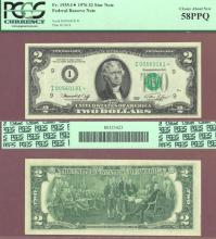 """1976-I - $2.00 """"STAR"""" FR.1935-I* US small size federal reserve note PCGS Choice About Uncirculated 58"""