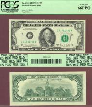 1969-C $100 FR-2166-I  PCGS 66 PPQ