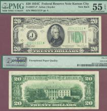 """1934-C $20 FR-2057-J* """"STAR"""" US small size federal reserve note"""