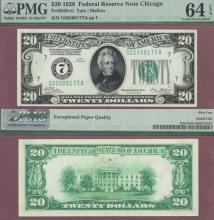 1928 - $20.00 FR-2050-G US small size federal reserve note PMG Choice Uncirculated 64 EPQ