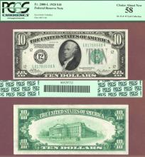 1928 - $10.00 FR-2000-L Numeral Note US small size federal reserve note