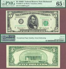 "1950 D $5 FR-1965-E* ""STAR"" US small size federal reserve note"