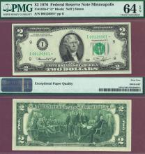 "1976-I - $2.00 ""STAR"" FR-1935-I* US small size federal reserve note"