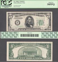 1934-D $5 FR-1960-F US small size federal reserve note PCGS About New 50 PPQ