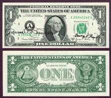 """1969-D - $1 FR-1907-A """"Dual Autograph"""" Banuelos/Shultz"""