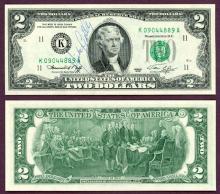 1976 - $2 FR-1935-K Mickey Gilly Autograph