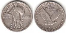 1919 25c US Standing Liberty Quarter