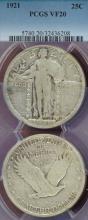 1921 25c Standing Liberty Silver Quarter