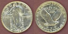1929-S 25c US Standing Liberty silver quarter