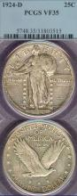 1924-D 25c US standing liberty silver quarter PCGS Very Fine-35