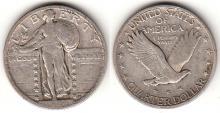 1924 25c US standing liberty silver quarter