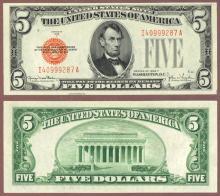 1928-F $5 FR-1531 US legal tender note