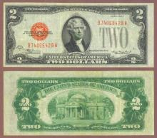 1928-C $2 FR-1504 Small legal tender note red seal