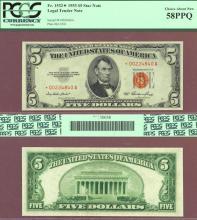 1953 $5 FR-1532* STAR note US legal tender