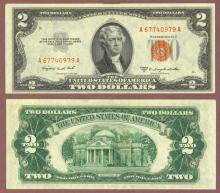 1953-B $2  FR-1511 US small size legal tender note