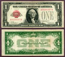 1928 $1 FR-1500 US small size Legal Tender note red seal