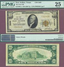 Texas 1929 $10.00 Type 1 FR-1801-1 Charter 5485 US small size national bank note