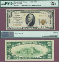Texas 1929 $10.00 Type 1 FR-1801-1 Charter 3506 US small size national bank note
