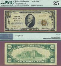 Arkansas 1929 $10.00 Type 1 FR-1801-1 Charter 10750 US small size national bank note brown seal