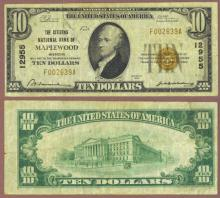 Missouri 1929 $10.00 Type 1 FR-1801-1 Charter 12955 US small size national bank note