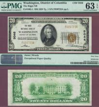 1929 $20.00 Type 1 FR-1802-1 Charter 5046 Washington DC
