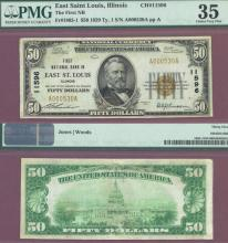 Illinois 1929 $50.00 Type 1 FR-1803-1 Charter 11596 US small size national bank note PCGS Choice Very Fine 35