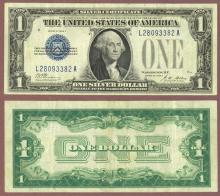 1928-A $1 FR-1601 Funny back Silver Certificate