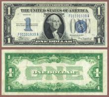 1934 $1 FR-1606 funny back silver certificate