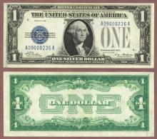 1928 $1 FR-1600 funny back US silver certificate
