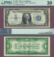1934 $1 FR-1606* STAR note funny back US silver certificate