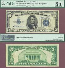 """1934-A $5 FR-1651 """"STAR"""" Mule US small size silver certificate"""