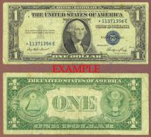 1935-E $1 FR-1614* *STAR* US small size silver certificate
