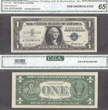 1957 - $1 FR-1619 Ivy Baker Priest Courtesy Autograph