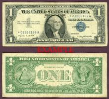 1957-A $1 *STAR* FR-1620* US small size silver certificate blue seal